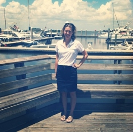 Kerri at Fernandina Harbor Marina, the first to receive their RPI signs and net this week.