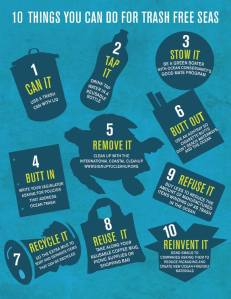 Ocean Conservancy: 10 things you can do for Trash Free Seas