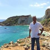 Yannis at a secret spot in Zakynthos.