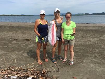 Beach cleanup, Padre Ramos Natural Preserve.