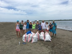 Beach cleanup, Padre Ramos Natural Preserve.