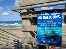 Jupiter, FL is 1 of 12 municipalities currently participating in LMC's Balloon Ban Initiative.