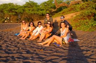 SWIM guests enjoy sunset on Maui's south shore. PC: Jeff Biege Photography