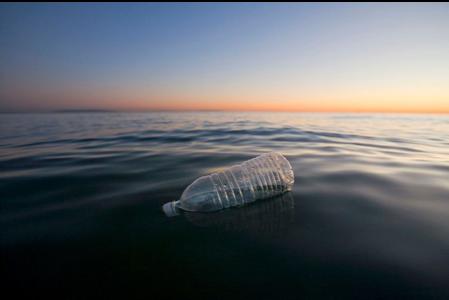 water bottle debris